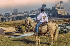 """And we talk about white colonialism like a thing of the past #NoDAPL (via @ziyatong)"""