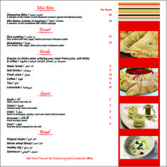 Shawarma Menu @Meet and Eat