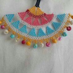 Efe  oyası Point Lace, Needle Lace, Macrame, Crochet Necklace, Embroidery, Knitting And Crocheting, Crochet Collar, Crochet Lace