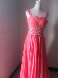 Custom make Vintage Wedding Dress A LINE Bridal Gown Bridesmaid Formal Pink Chiffon Crystals Plus Size Ball Party Dresses Floor KneeTrain. $179.00, via Etsy.