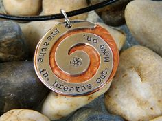 Jimmy Buffett Pendant - Breathe In Breathe Out Move On