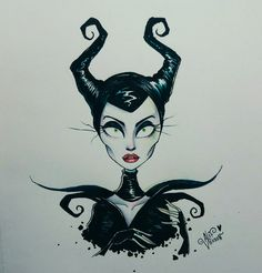 Maleficent by Alef Vernon  Inspired by Tim Burton #alefvernon #timburton