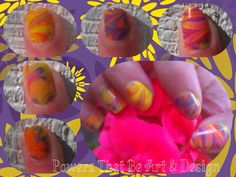 Powers That Be Art And Design, Nail Art, Done by hand, tie dye, neon, other hand
