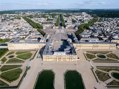 Palace of Versailles Aerial View