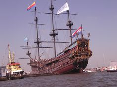 Replica of the VOC ship 'Prins Willim', unfortunately destroyed by a fire in 2009.
