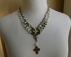 Vintage Religious Medal Necklace Repurposed by Vinchique on Etsy