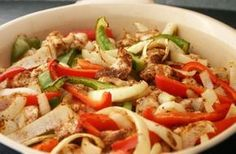 Enjoy this quick and task easy oven fajitas recipe that is perfect for any phase of the Fast Metabolism Diet.