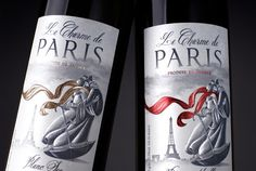 """French wine design """"Le Charme de Paris"""" by Alex Kodimsky, via Behance #wine #vinosmaximum"""