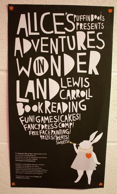 Alice in Wonderland poster ❤ typography