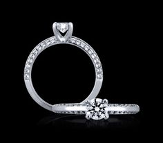 A.Jaffe diamond engagement ring very sweet for a smaller diamond center