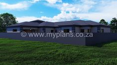 4 Bedroom House Plan - My Building Plans South Africa My House Plans, 4 Bedroom House Plans, Family House Plans, My Building, Building Plans, African House, Round House, Open Plan, Master Suite