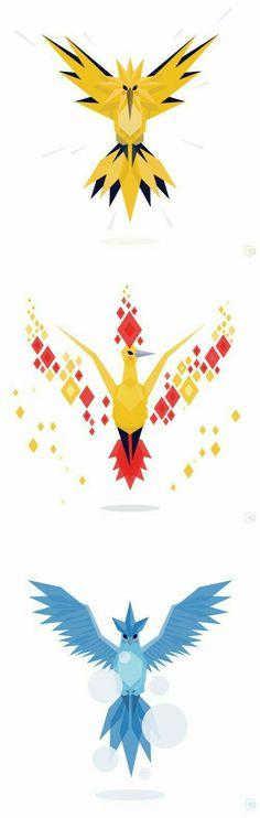 Moltres, Zapdos, Articuno; Pokémon