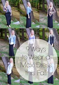 Wearing Maxi Dresses in the fall!