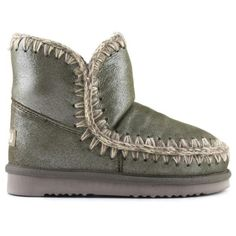 Mou eskimo 18 Forest Golden Glitter - MOU #mou #eskimo #snerker #shoes #fashion