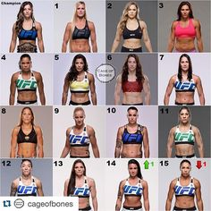 The lady bantamweights. Who are your favorite @ufc women? Cat Zingano Instagram Post - May 22, 2016