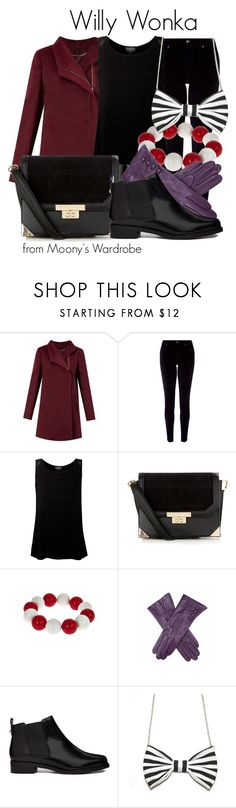 """""""Willy Wonka"""" by evalupin ❤ liked on Polyvore featuring Monsoon, Ghost, Fornash, ASOS, Freena, Halloween, timburton, willywonka and charlieandthechocolatefactory"""