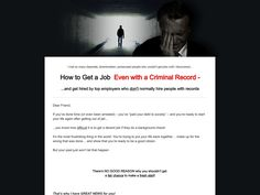 ① How To Get A Job When You Have A Criminal Record - http://www.vnulab.be/lab-review/%e2%91%a0-how-to-get-a-job-when-you-have-a-criminal-record