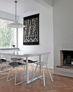Totally understand if you don't want to paint fireplace (seems tricky!) BUT you could do it a shade darker to still emphasize it without using such a bold accent color.