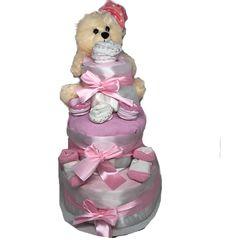 Τριόροφη τούρτα από πάνες οικονομική για δώρο στο μαιευτήριο White Girls, Teddy Bear, Toys, Children, Cake, Activity Toys, Young Children, White Chicks, Boys