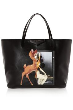 Here, deer and everywhere. Givency's Bambi makes an appearance on tote, too.