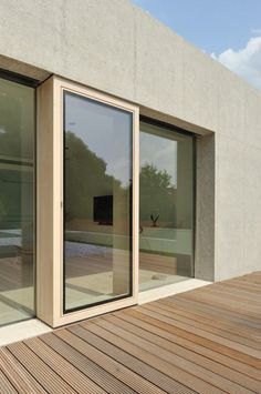 Projecting door frame. House D by Bevk Perovic Architects.