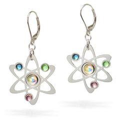 Rutherford-Bohr Atom Modell Ohrringe