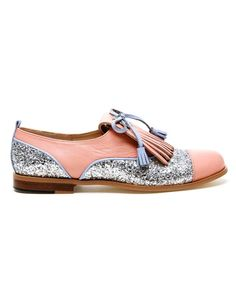 Browns fashion & designer clothes & clothing | CROON | 'Dream' Handmade Leather and Glitter Oxford Shoes