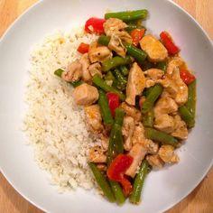 Healthy Living in Heels recept: Thai Red Curry met Bloemkoolrijst