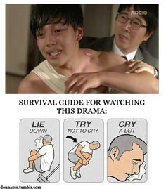Serious kdrama survival guide.  Especially applicable to I Miss You (aka Missing You, shown in the still).  Eeek.