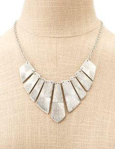 metallic tribal necklace