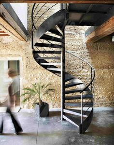 Ideas For Stairs Metal Exterior Decor Metal Barn Homes, Metal Building Homes, Pole Barn Homes, Spiral Staircase, Staircase Design, Outside Stairs Design, Spiral Stairs Design, Escalier Design, Pole Barn House Plans