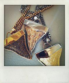 Embellished shark tooth pendants, Givenchy