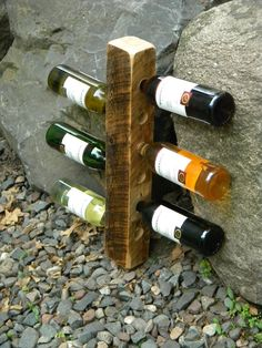 Vertical Wine Rack, Reclaimed Wood Beam, Wine Rack, Wedding Gift, Fathers Day Gifts, Floating Shelf, Wine Rack, Repurposed Wood, Home Decor, on Etsy, $35.00