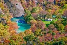 Vikos–Aoös National Park – Located in the North West region in the Pindus Mountains not far from the city of Ioannina, in Greece. Around The World In 80 Days, Around The Worlds, Greek Flowers, Smell Of Rain, Places In Greece, Forest Mountain, Autumn Painting, Greece Travel, Greece Trip