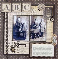 genealogy scrapbook-layouts