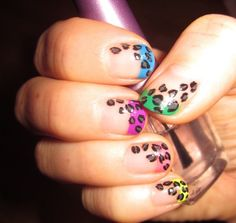 Leopard Print Nail Art on My Nails at Home | Nail Move.com