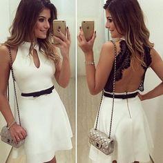 White feminine dress