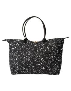 Mi-Pac Womens Weekender Canvas and Beach Tote Bag Splattered B/W: Amazon.co.uk: Luggage