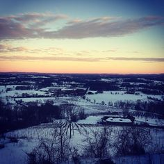 The view from Dirt Farm Brewing after Blizzard 2016 makes it all worth it