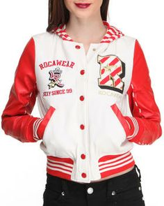 Love this Varsity Fleece w/vegan leather sleeve Varsity J... on DrJays. Take a look and get 20% off your next order!
