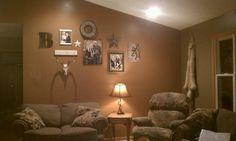 Pinterest inspired livingroom wall.