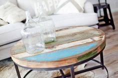 Runt Soffbord av återvunnet trä Vase, Inspiration, Furnitures, Design, Home Decor, Biblical Inspiration, Decoration Home, Room Decor