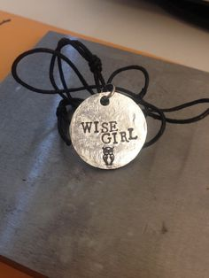 """Percy Jackson Inspired """"Wise Girl"""" Necklace on Etsy, $10.00"""