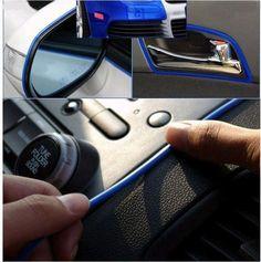 Car Decor Decoration Trim Strip Adhesive 4mmX5m f. Air Vent Dashboard Dash Radio
