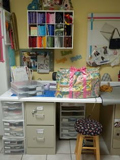 CRAFTY STORAGE: Carol's multi space studio