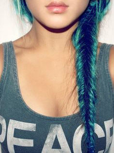 aqua fish tail :) (I really like the idea of brightly colored hair)