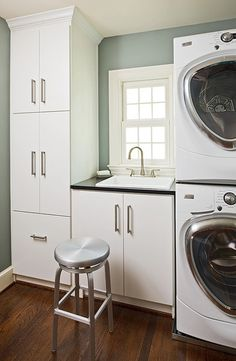 Nice idea - about the size of my laundry room. I don't have a window, so I might be able to add another cabinet or some shelves.