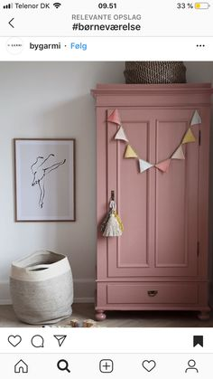 cabinet Color cabinet Color The post cabinet Color appeared first on Woman Casual - Kids and parenting Repurposed Furniture, Painted Furniture, Bedroom Furniture, Bedroom Decor, Bedroom Colors, Painted Armoire, Bedroom Ideas, Pink Furniture, Retro Furniture