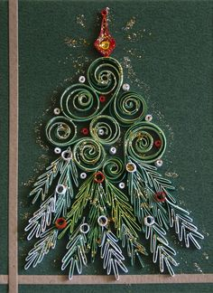 neli: Quilling cards - Christmas - Neli Beneva is the artist for this beautiful quilled card:) Neli Quilling, Quilling Work, Paper Quilling Designs, Quilling Paper Craft, Quilling Patterns, Quilling Cards, Paper Crafts, Quilling Christmas, Christmas Crafts