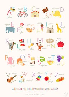Printable Alphabet Posters – English, French & Spanish: This website has posters that a teacher could print and laminate for each students desk. There are topics like colors, shapes and letters to help students. This would be a great website for preschool and kindergarten teachers.